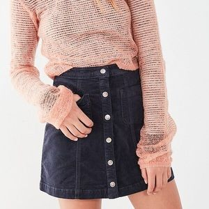 Urban outfitters BDG corduroy button- front skirt